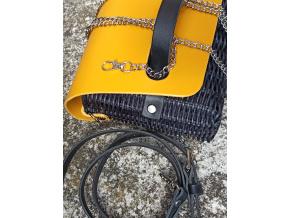 Jeanne opriutěná kabelka černo žlutá