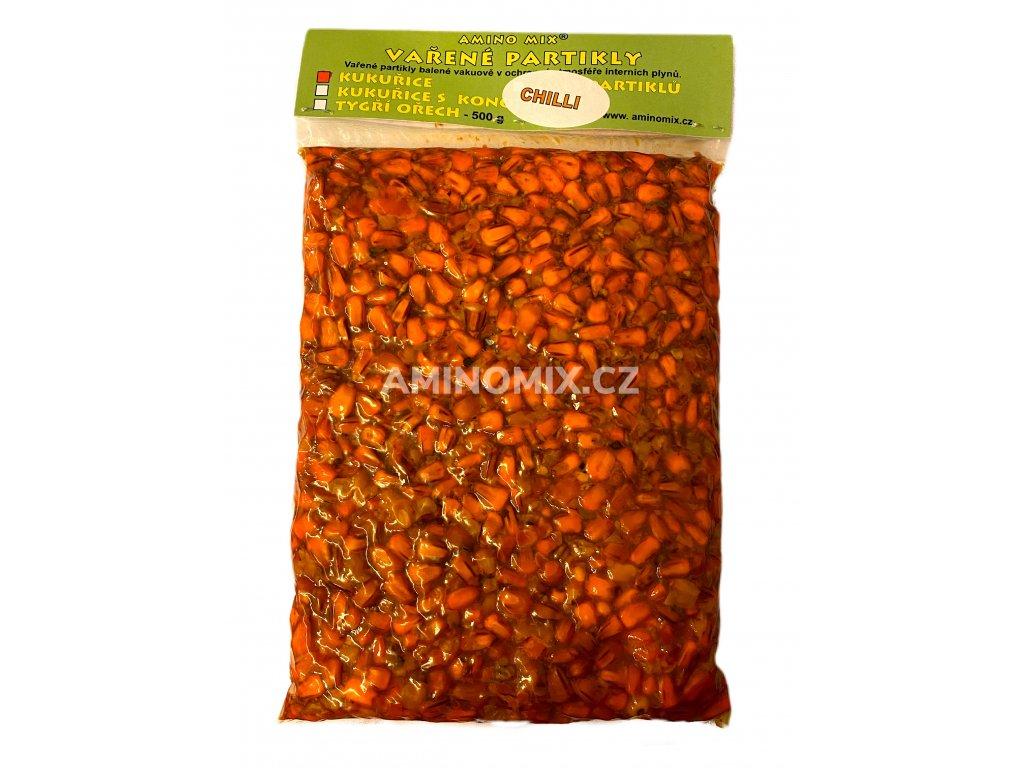 vařená kukuřice chilli