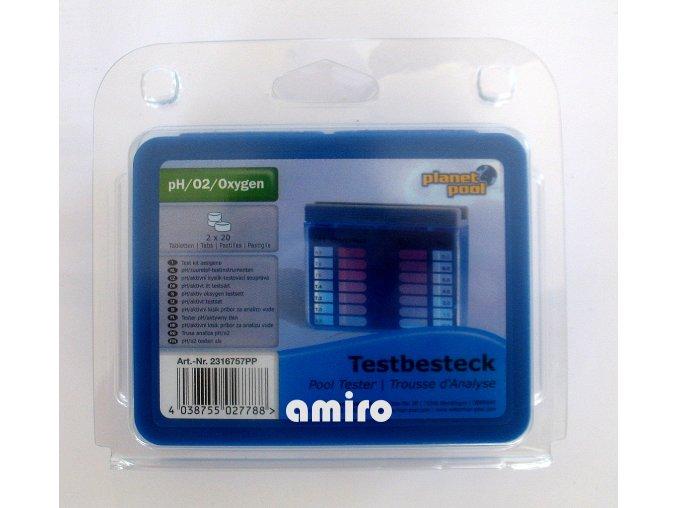 CHEMOFORM pH/aktivní kyslík tester (20+20 tabl.) 102306757