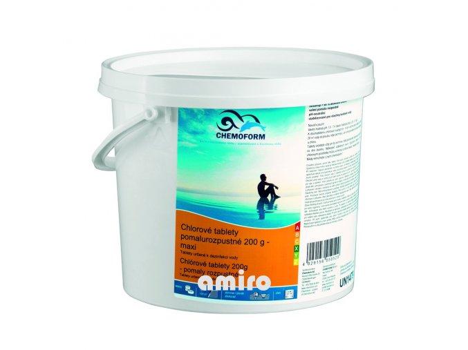 CHEMOFORM Chlorové tablety pomalurozpustné 200g 3 kg 100505603