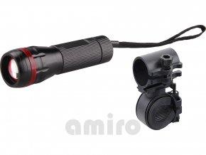 EXTOL LIGHT svítilna 3W CREE LED s držákem na kolo, 120lm, dosvit 100m, funkce ZOOM 43110