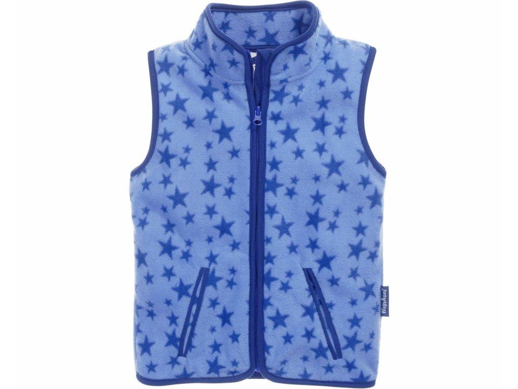 Fleecová vesta hviezdičková modrá