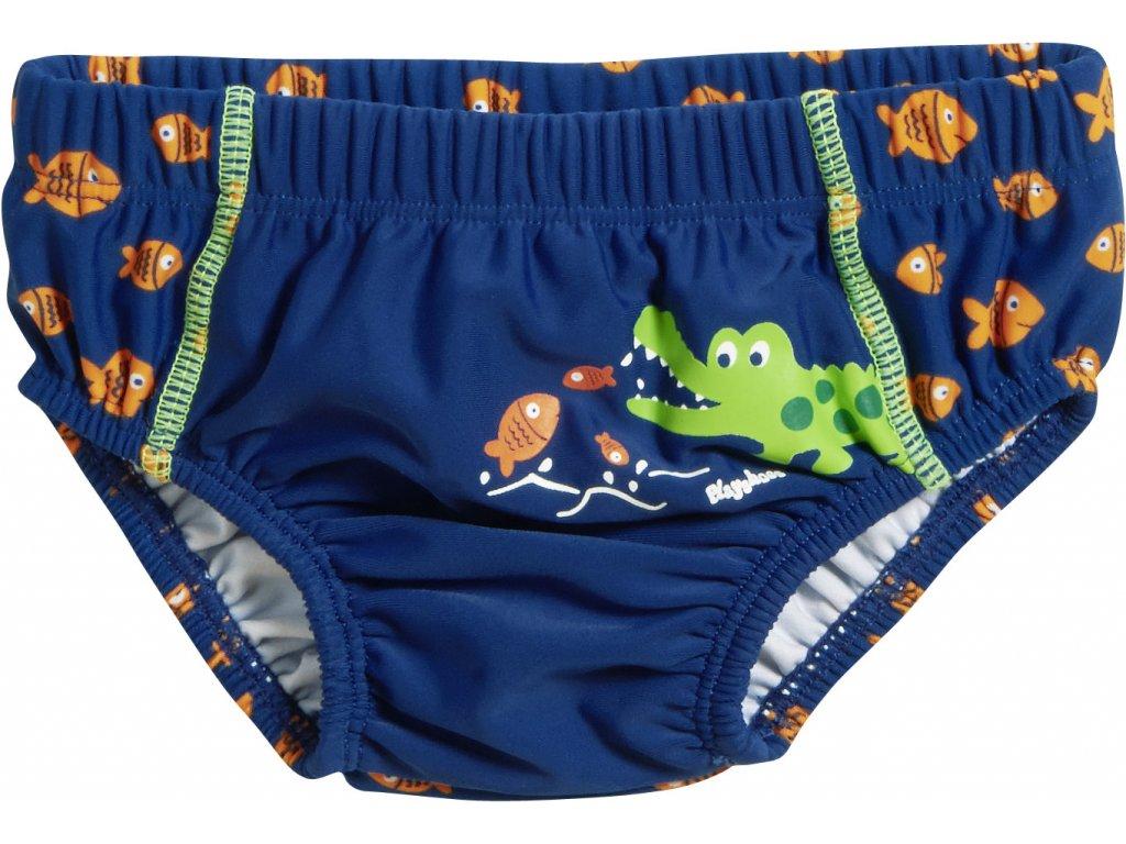 Baby plavky s plienkovou vložkou Krokodíl