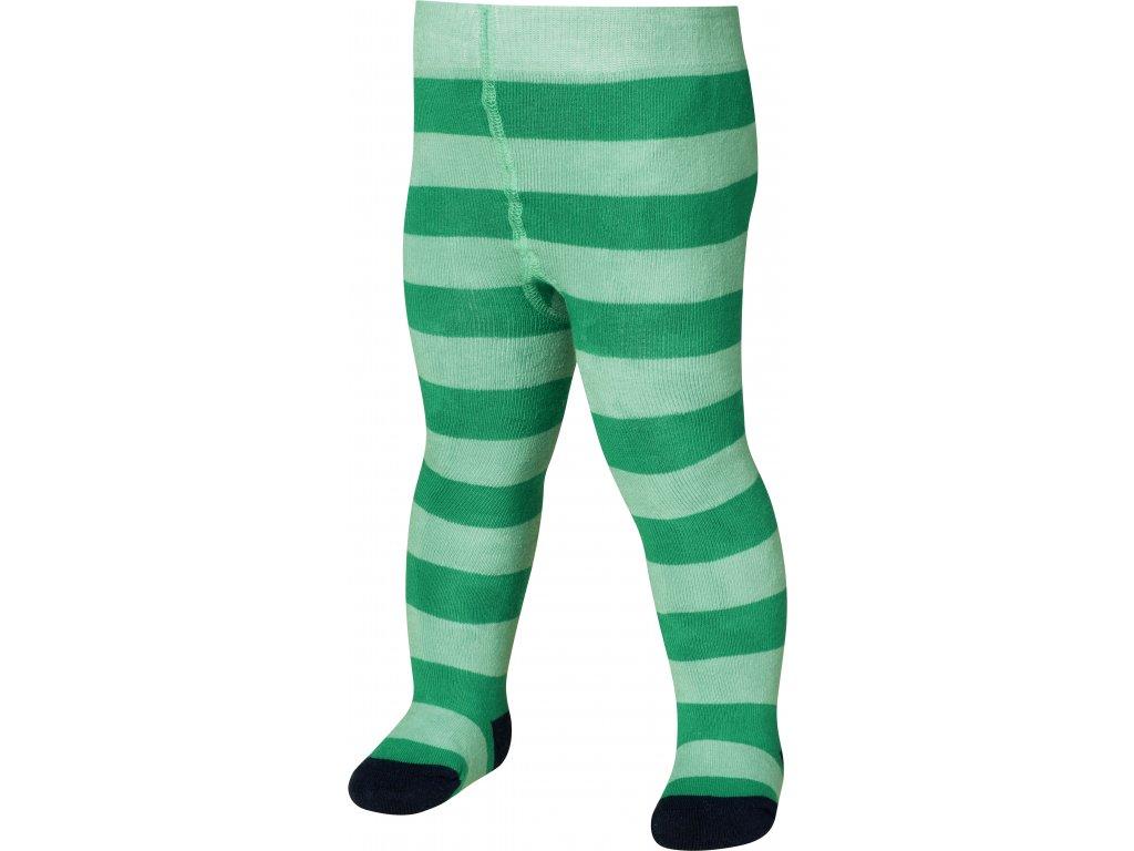 Detské termo pančuchy zelené s pásikmi
