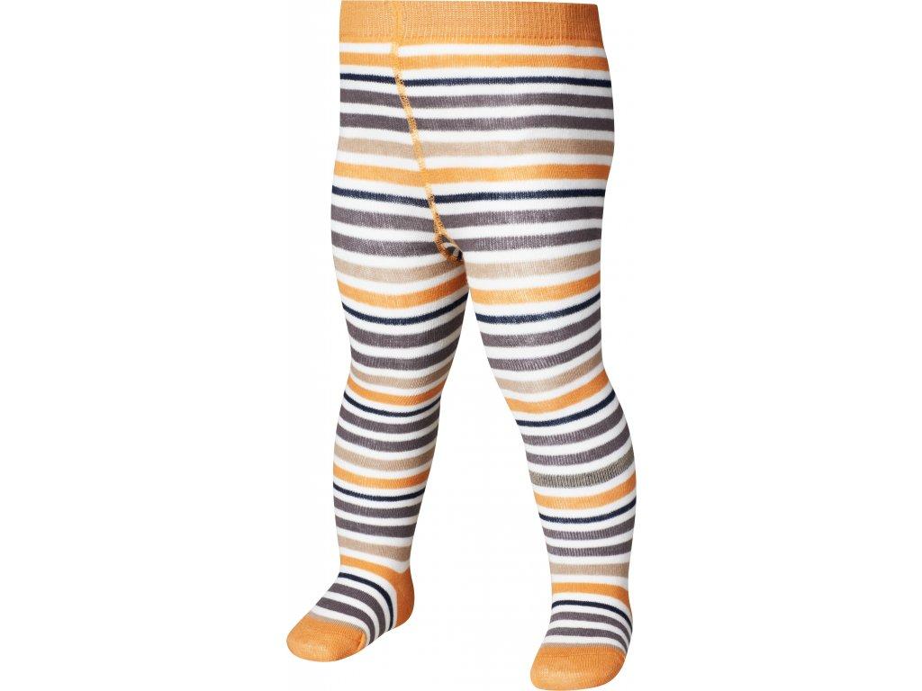 PLAYSHOES Detské pančuchy Pásik - oranžové