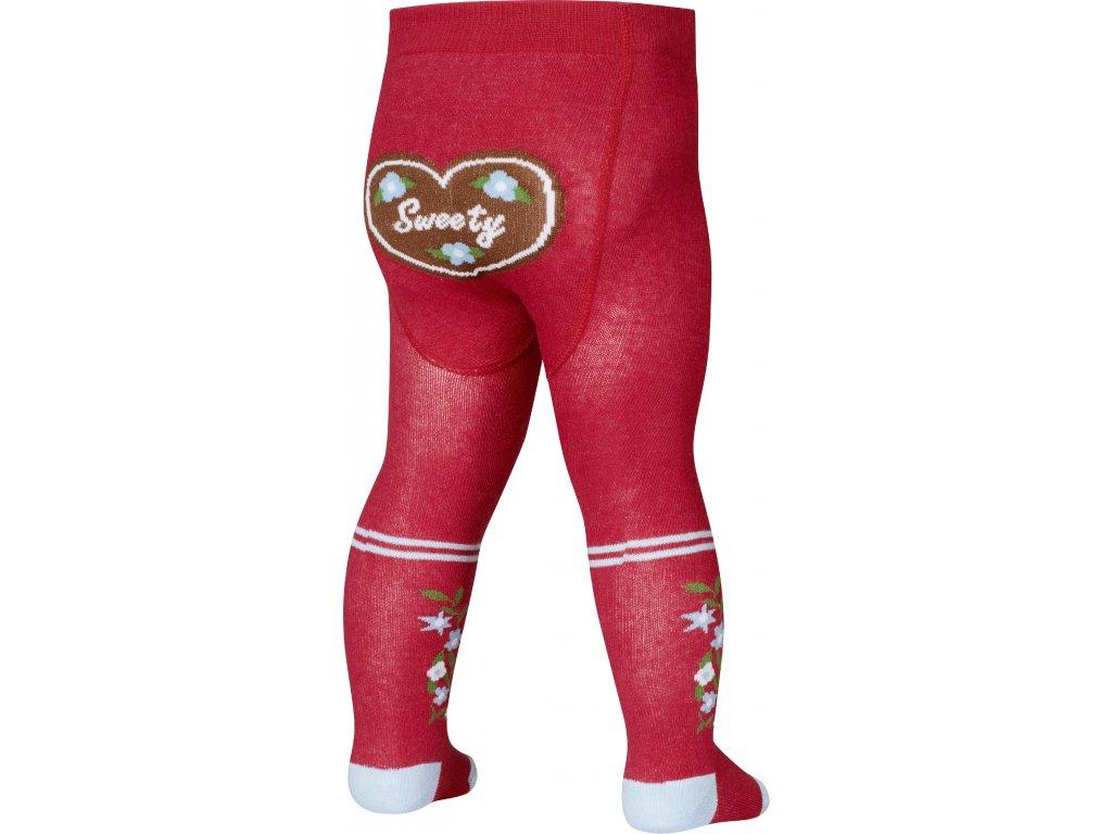 PLAYSHOES Detské pančuchy- Sweety, farba: červená