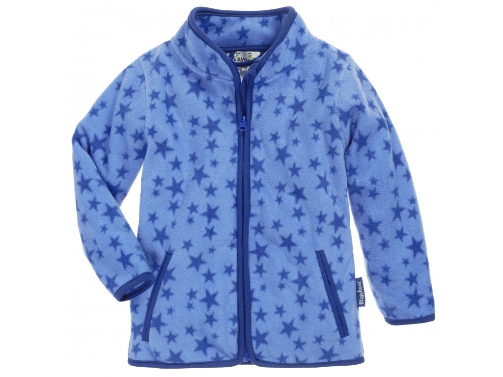 Fleecová mikina hviezdičková modrá