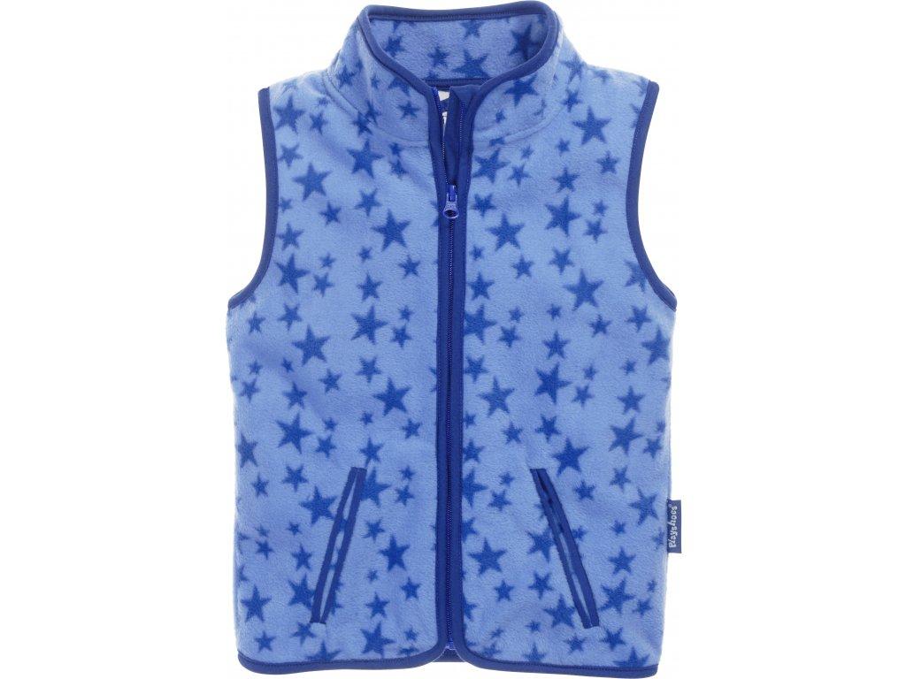 Fleecová vesta Hviezdička modrá