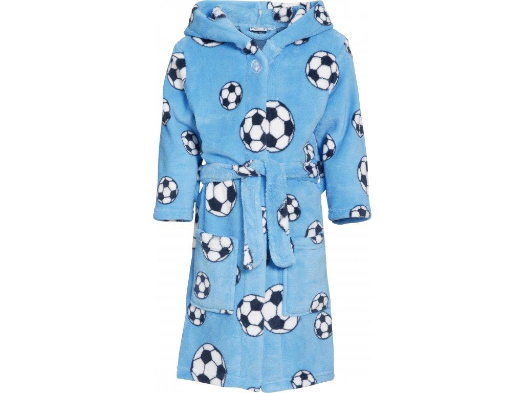 Fleecový župan Futbal modrý