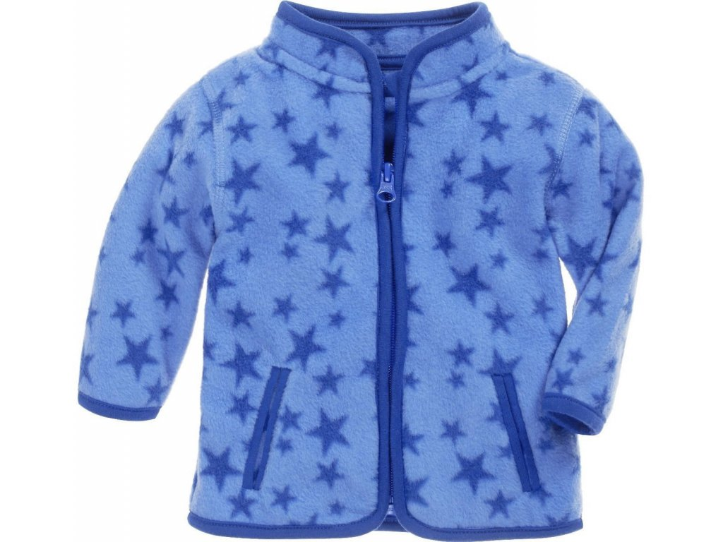 XXL1 schnizler fleece jacket stars blue