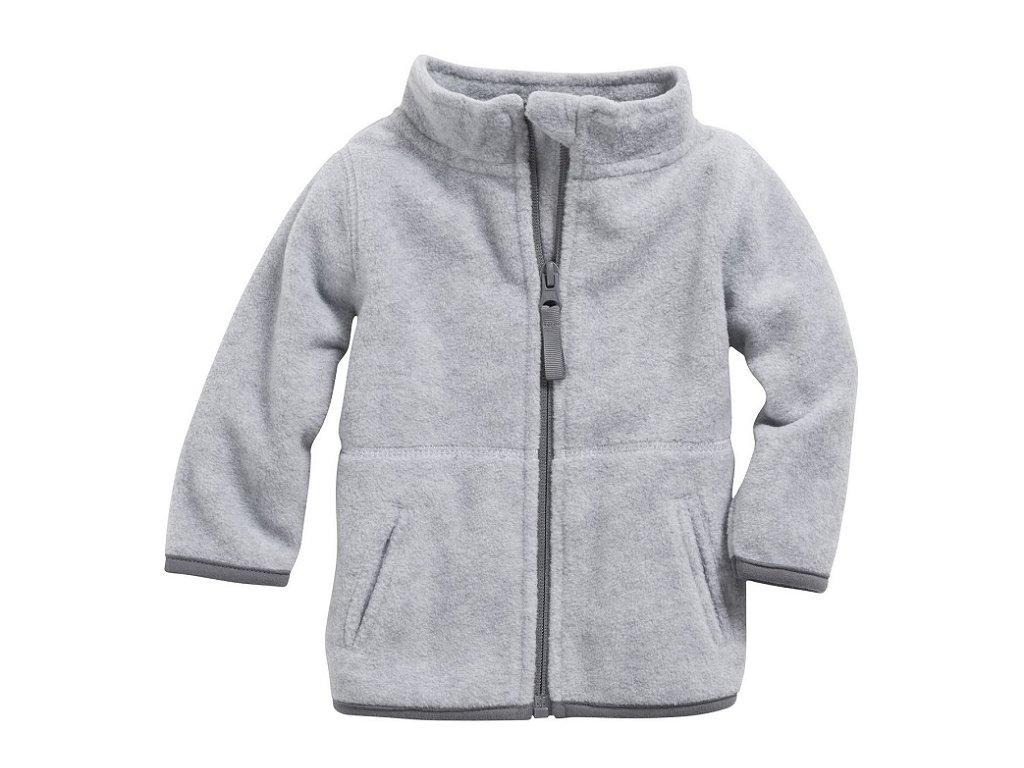 Baby fleecová mikina sivá