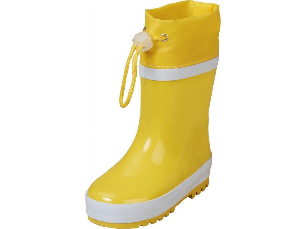 Zateplené gumáky Basic žlté