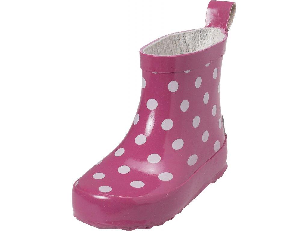 Detské gumáky Bodka nízke ružové