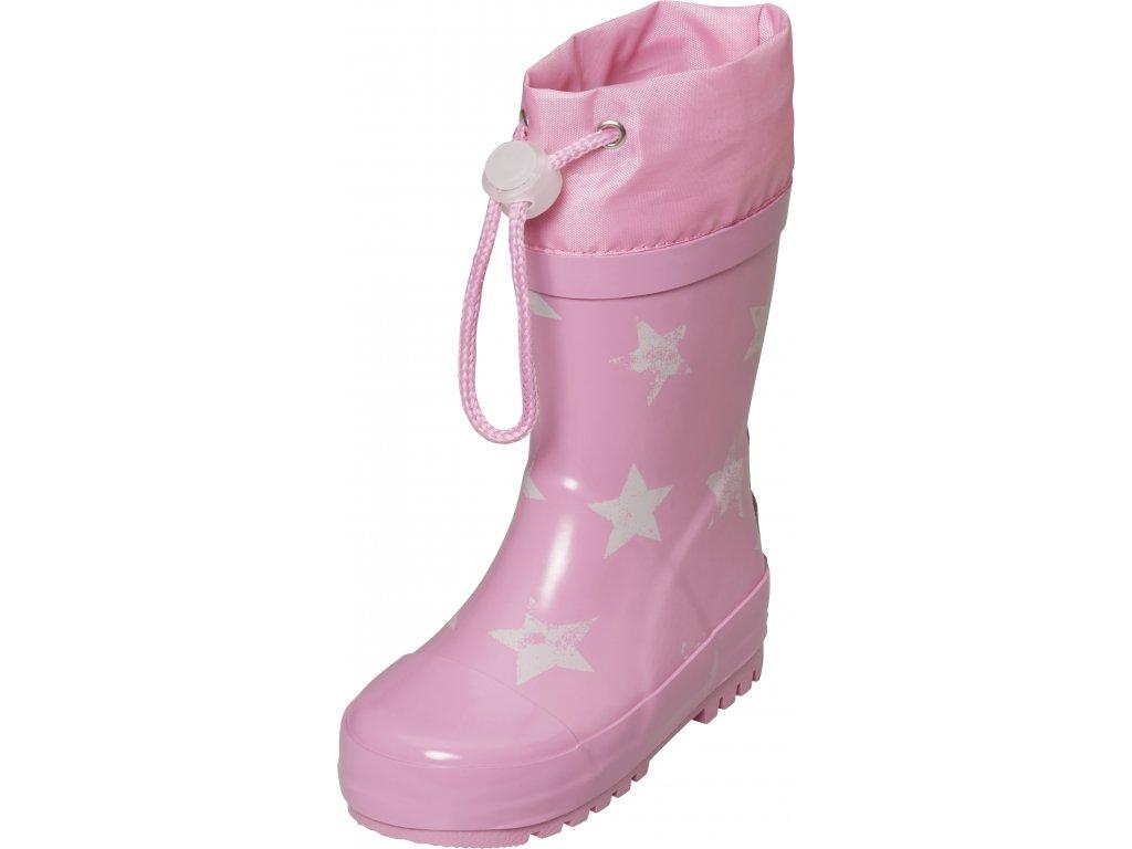 Detské gumáky Hviezdy ružové