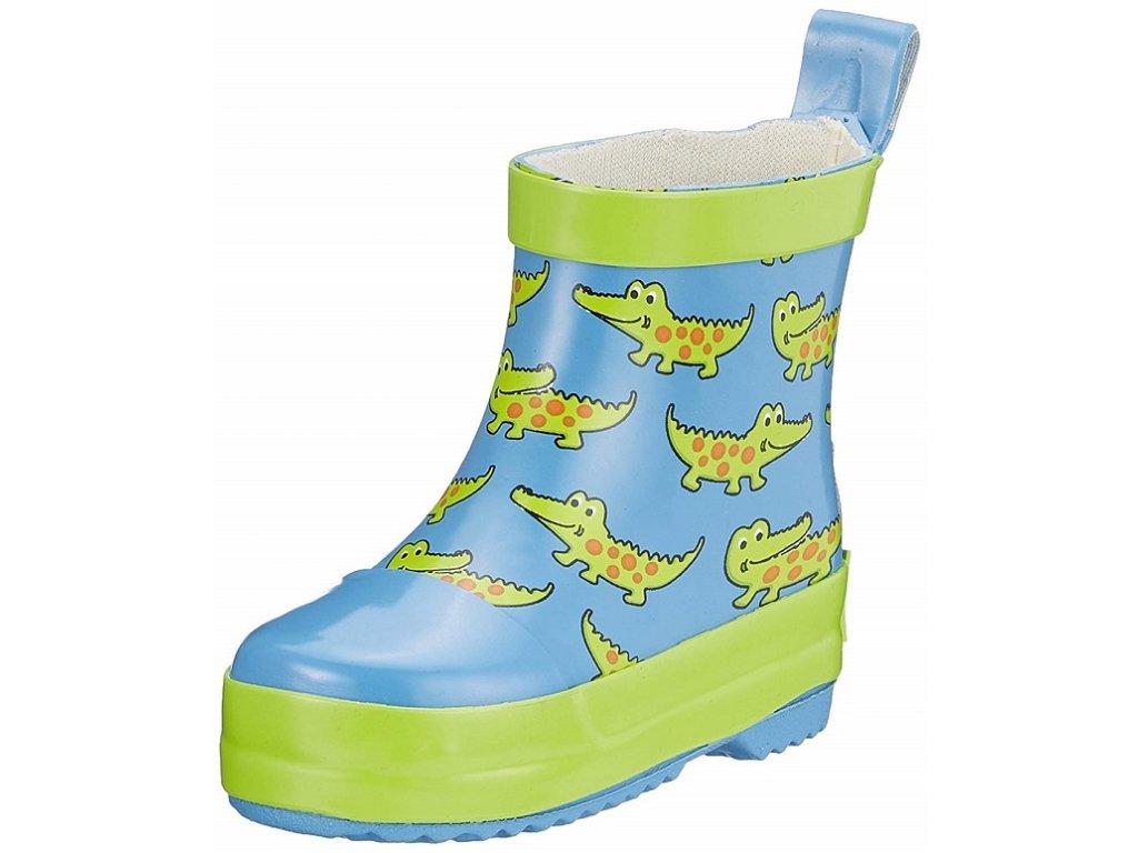 PLAYSHOES Detské gumáky nízke - Krokodíl modrý