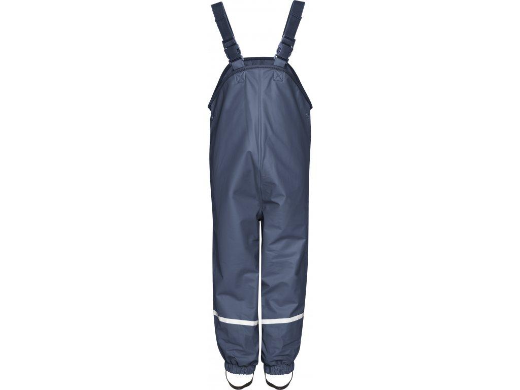 Nepremokavé nohavice na traky s fleecovou podšívkou tmavomodré