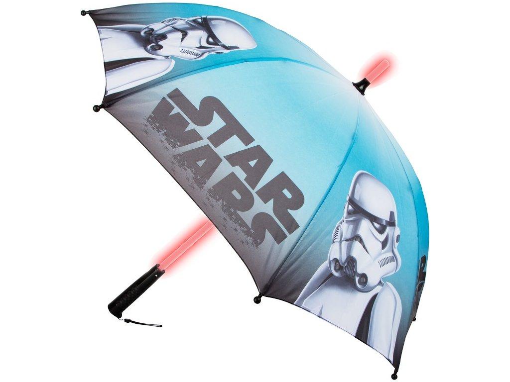 Detský dáždnik Star Wars svietiaci