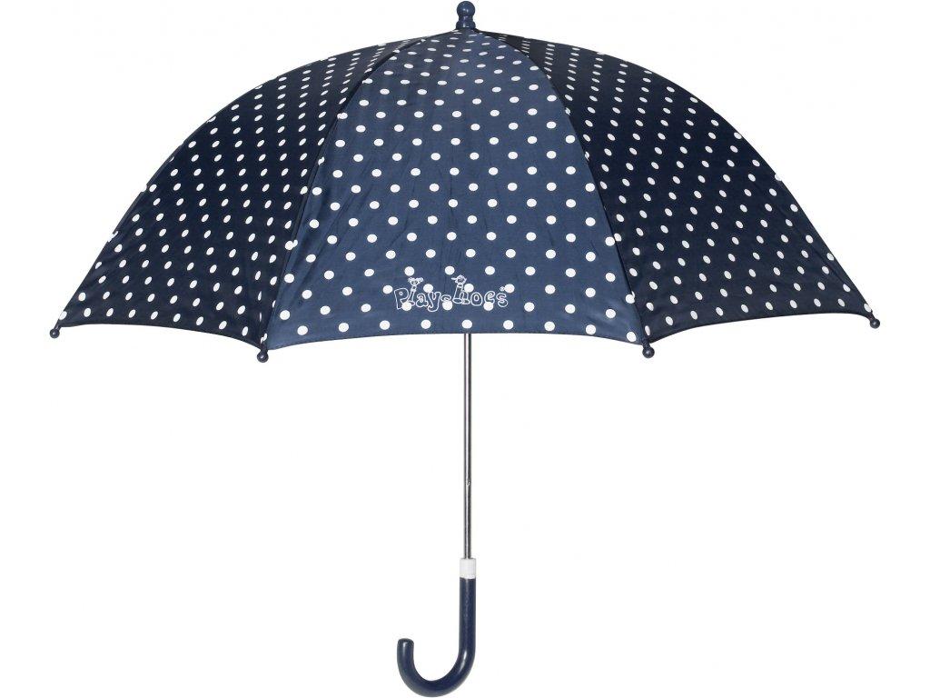 PLAYSHOES Detský dáždnik - Bodka 70cm, farba tmavomodrá