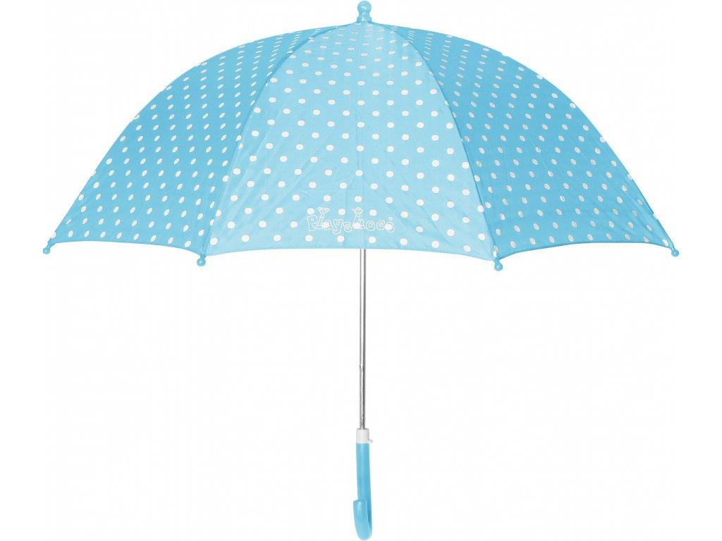 PLAYSHOES Detský dáždnik - Bodka 70cm, farba tyrkysová