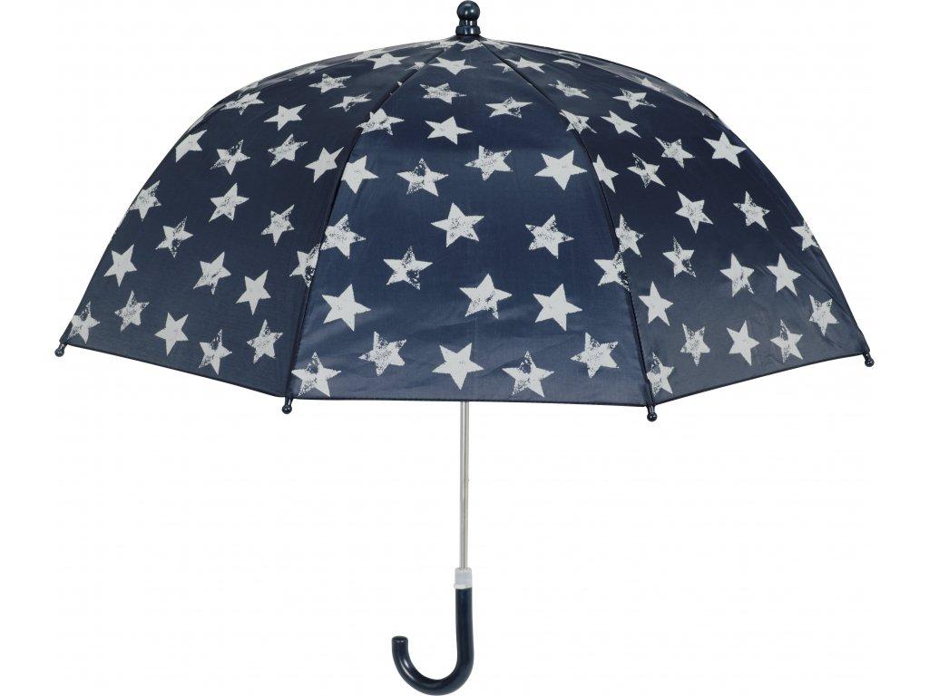 PLAYSHOES Detský dáždnik Hviezda 70cm, farba tmavomodrá