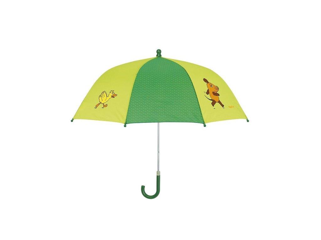 PLAYSHOES Detský dáždnik Myška - zelený 70cm