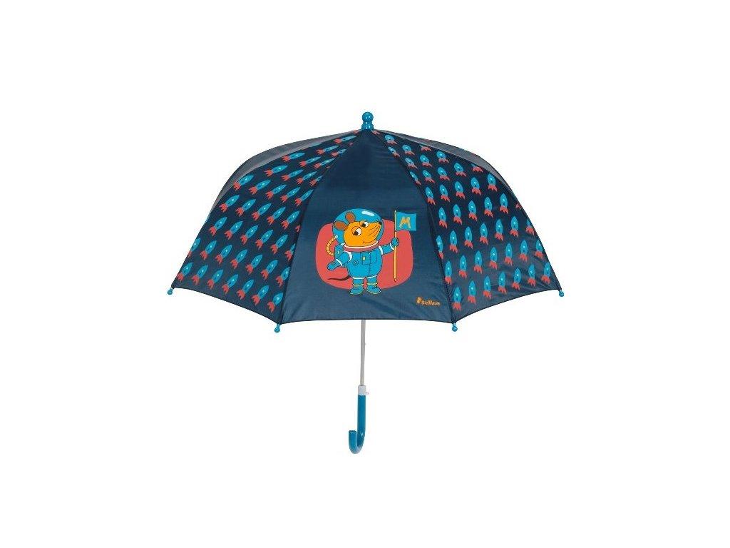 PLAYSHOES Detský dáždnik Myška a kozmonaut 70cm