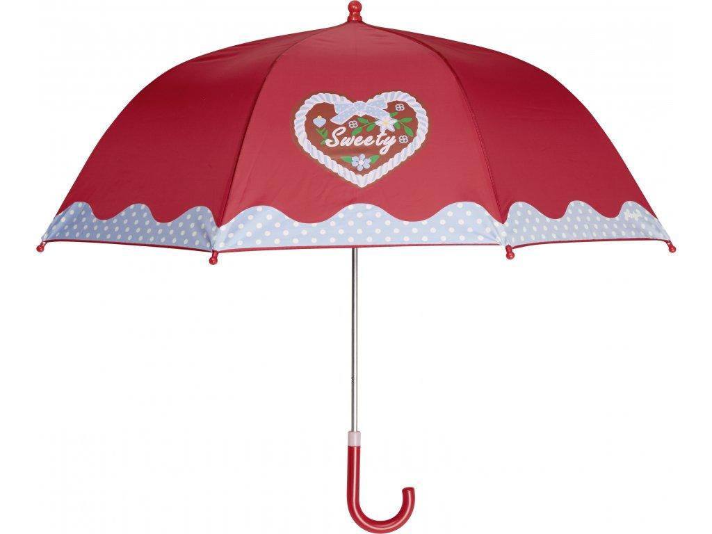 PLAYSHOES Detský dáždnik Sweety  70cm červený