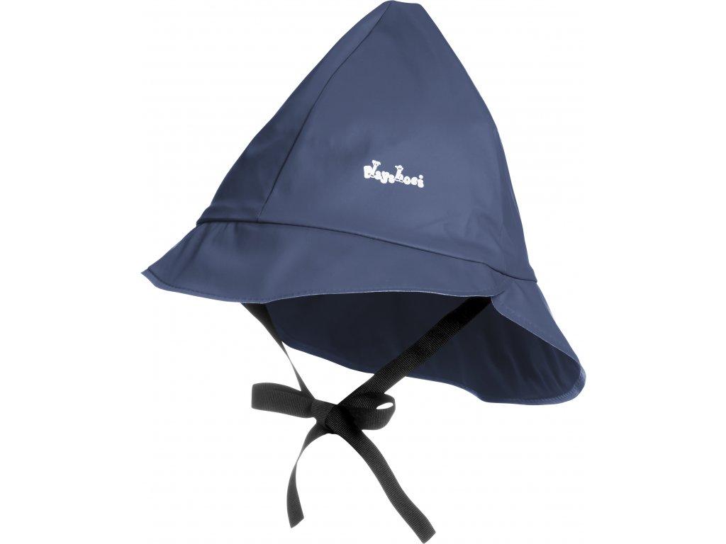 Klobúčik do dažďa s fleecovou podšívkou tmavomodrý