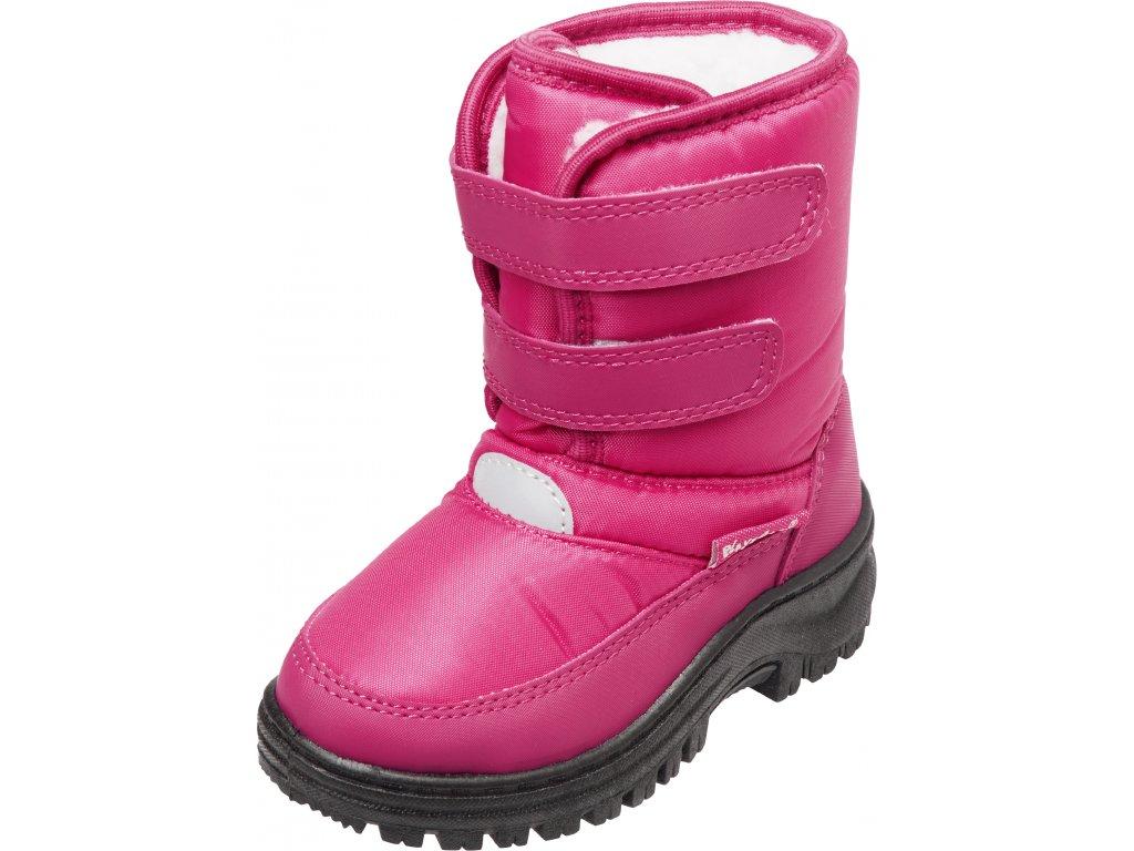 Zimné topánky na suchý zips ružové
