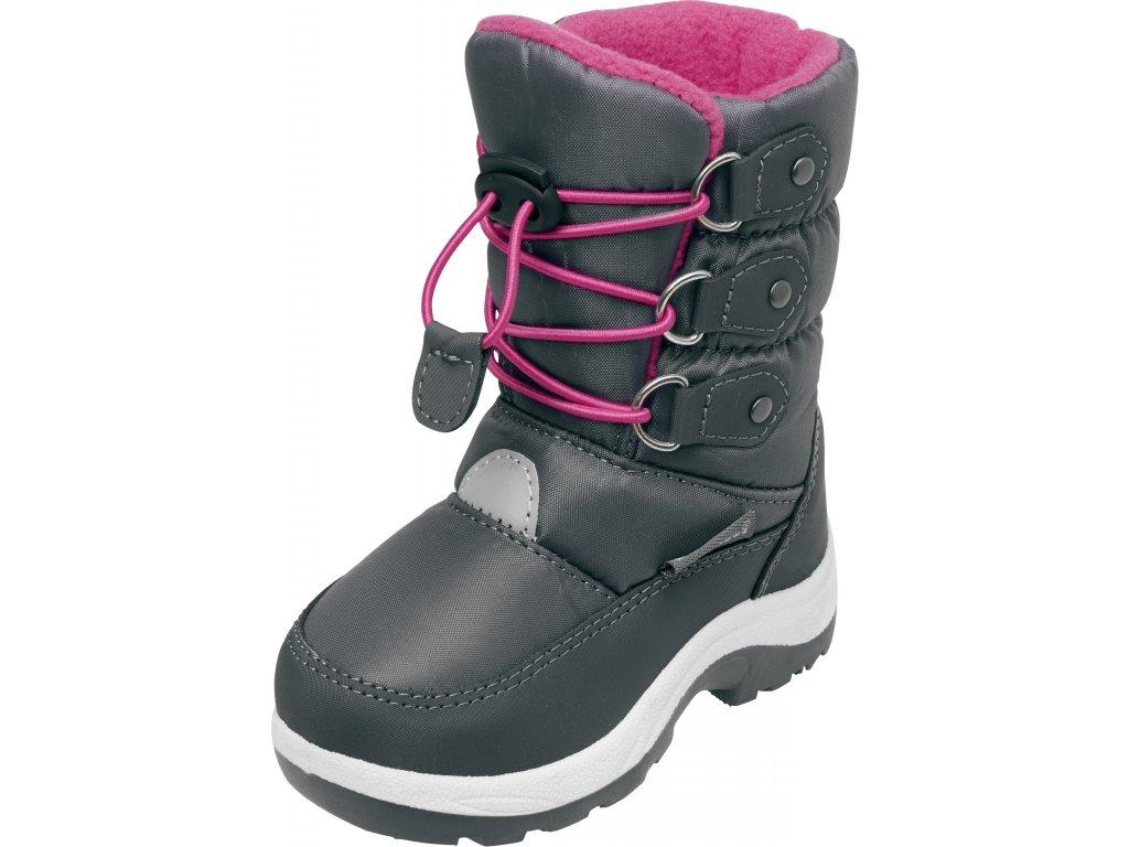 Zimné topánky s rýchlozaväzovaním ružové