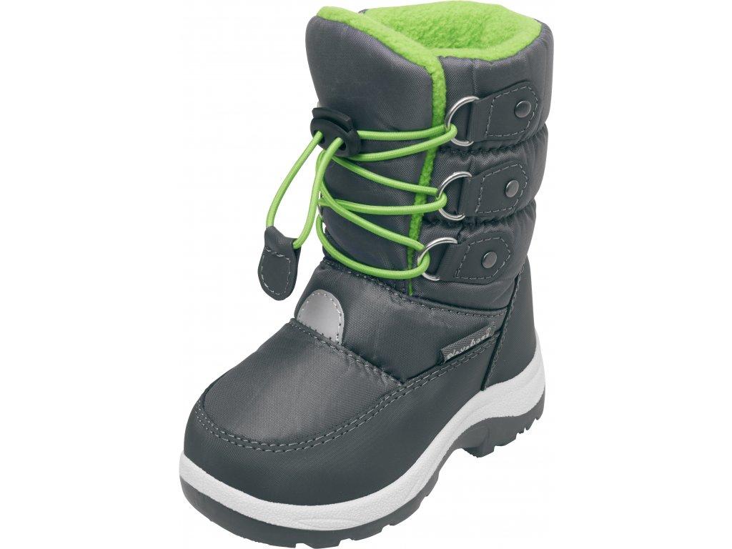 Zimné topánky s rýchlozaväzovaním zelené