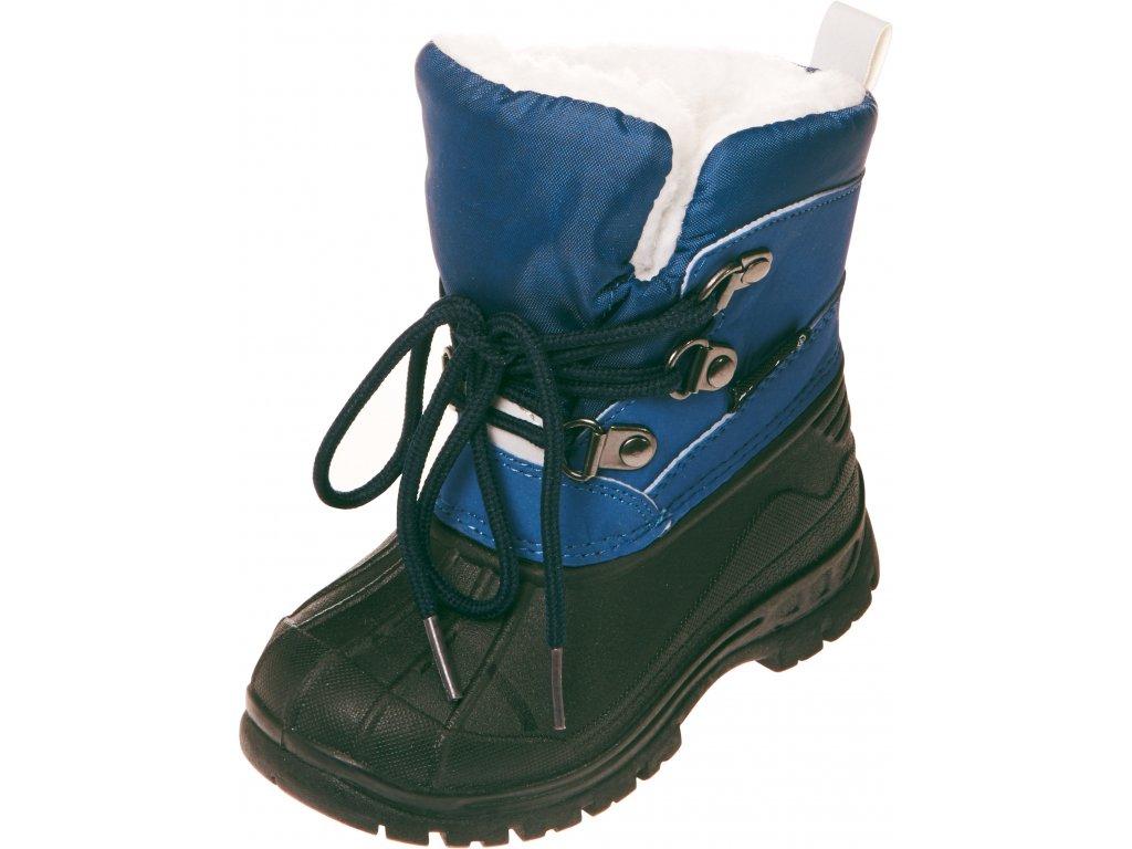 Zimné šnurovacie topánky modré