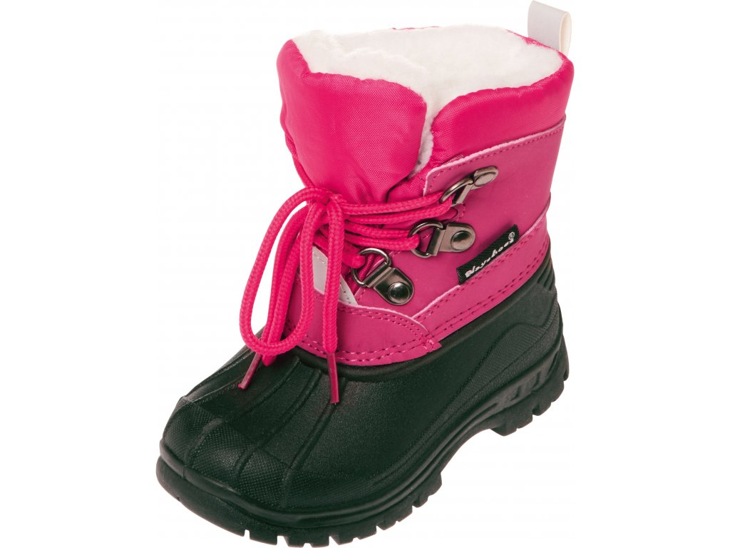 Zimné šnurovacie topánky ružové