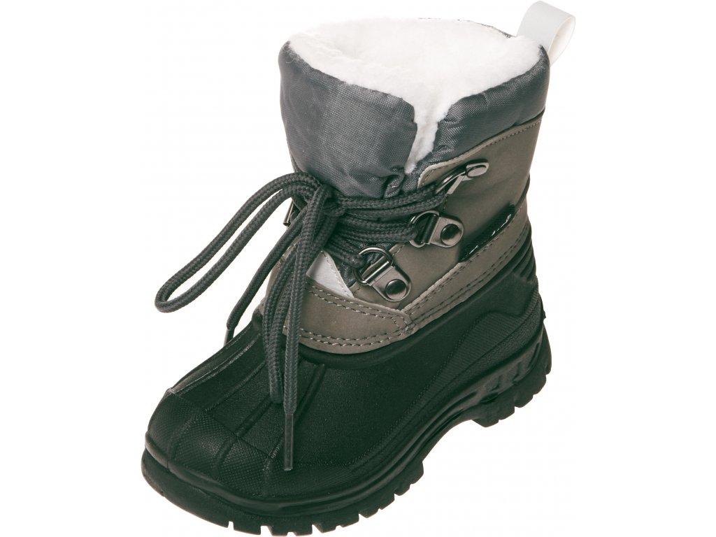 Zimné šnurovacie topánky sivé