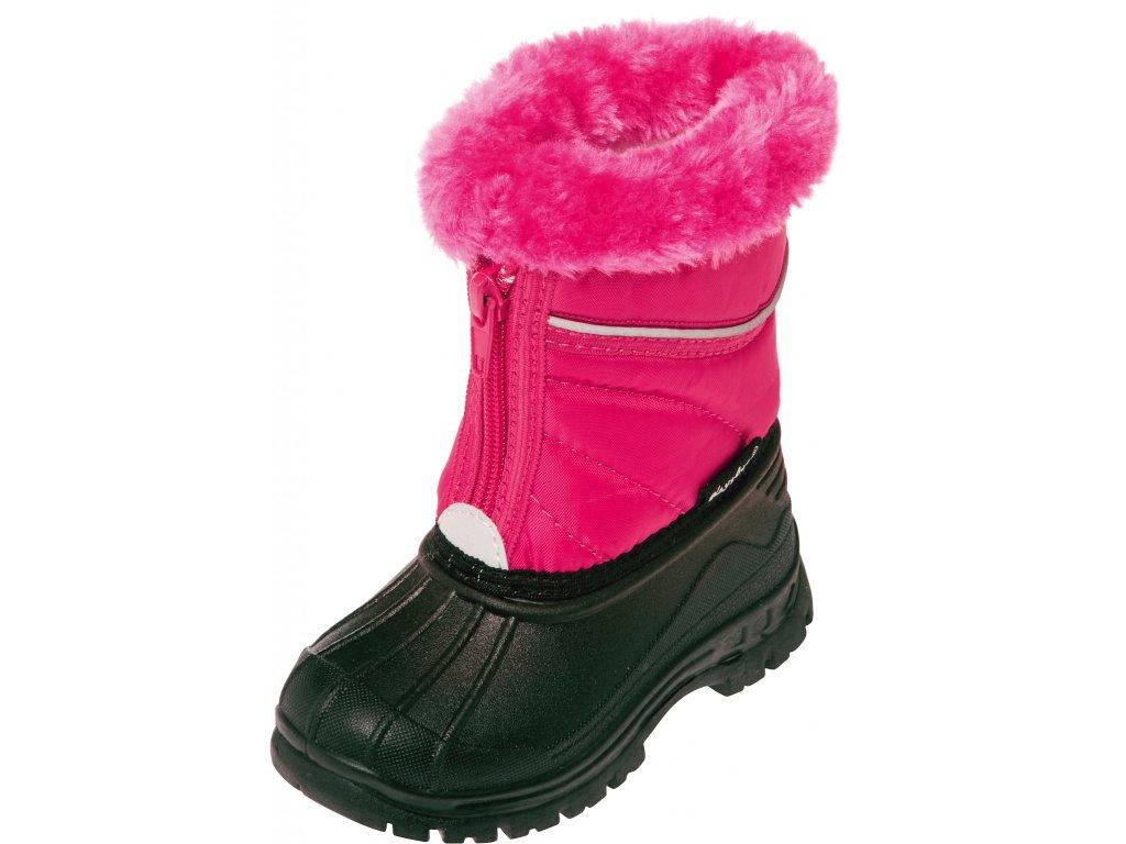 Zimné topánky na zips ružové