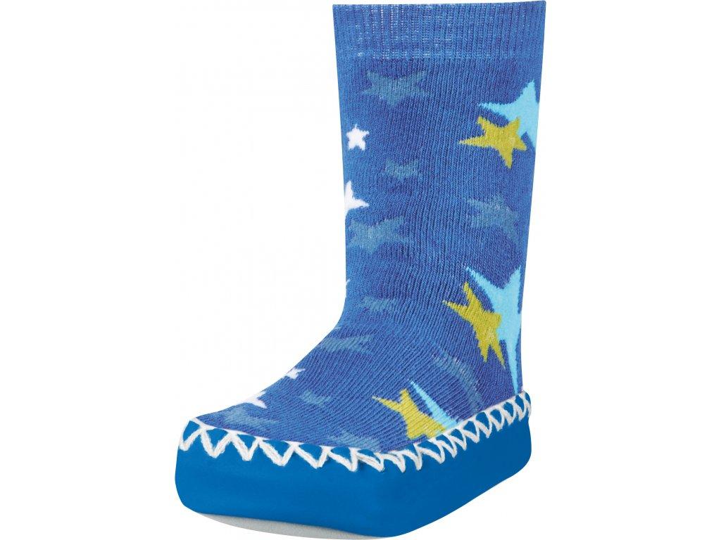 Protišmykové ponožky-papuče Hviezdička modrá