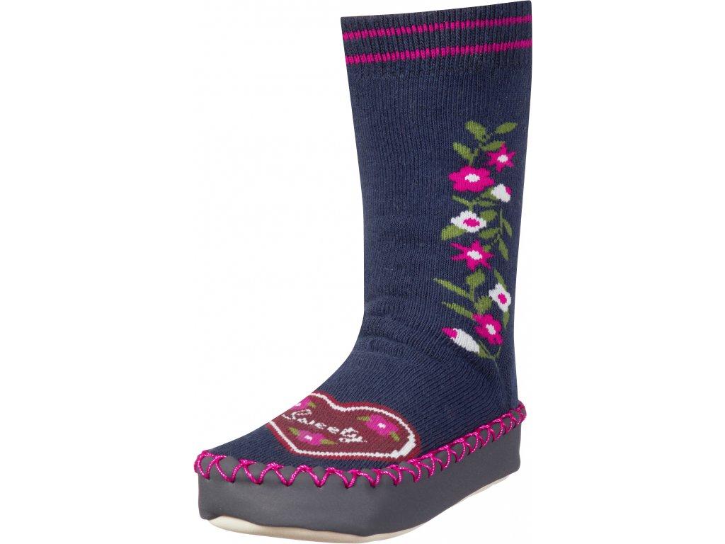 Protišmykové ponožky- papuče Sweety tmavomodré