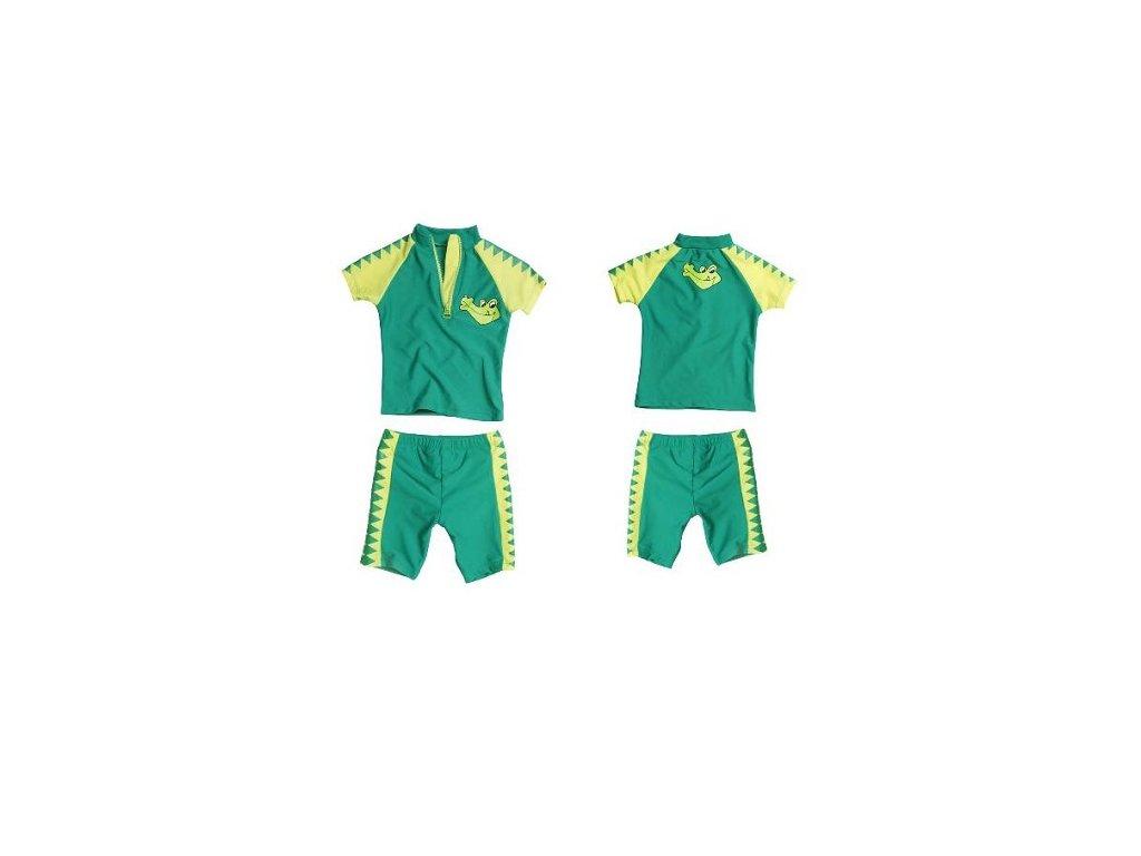 Dvojdielny kúpací komplet Krokodíl zelený