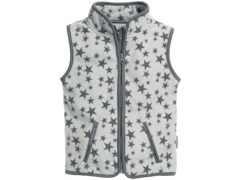 Fleecová vesta Hviezdička sivá