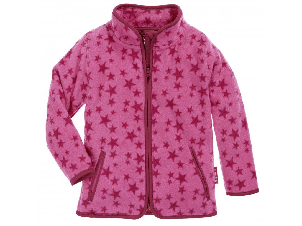 Fleecová mikina Hviezda ružová