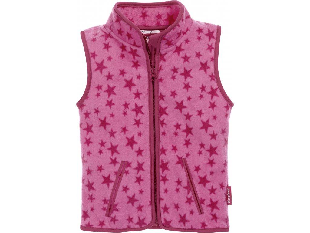 Fleecová vesta Hviezdička ružová