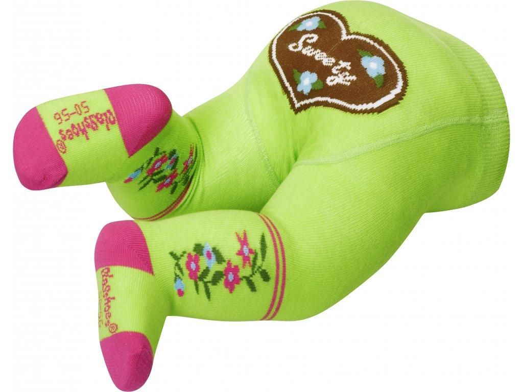 PLAYSHOES Detské pančuchy- Sweety, farba: zelená