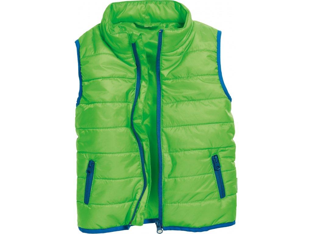 Prešívaná vesta UNI zelená