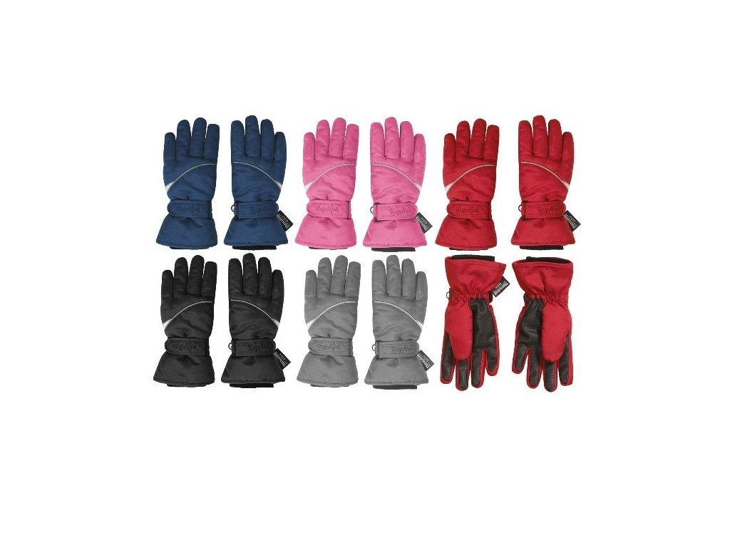 PLAYSHOES Rukavice na zimu 4 farby, farba: čierna