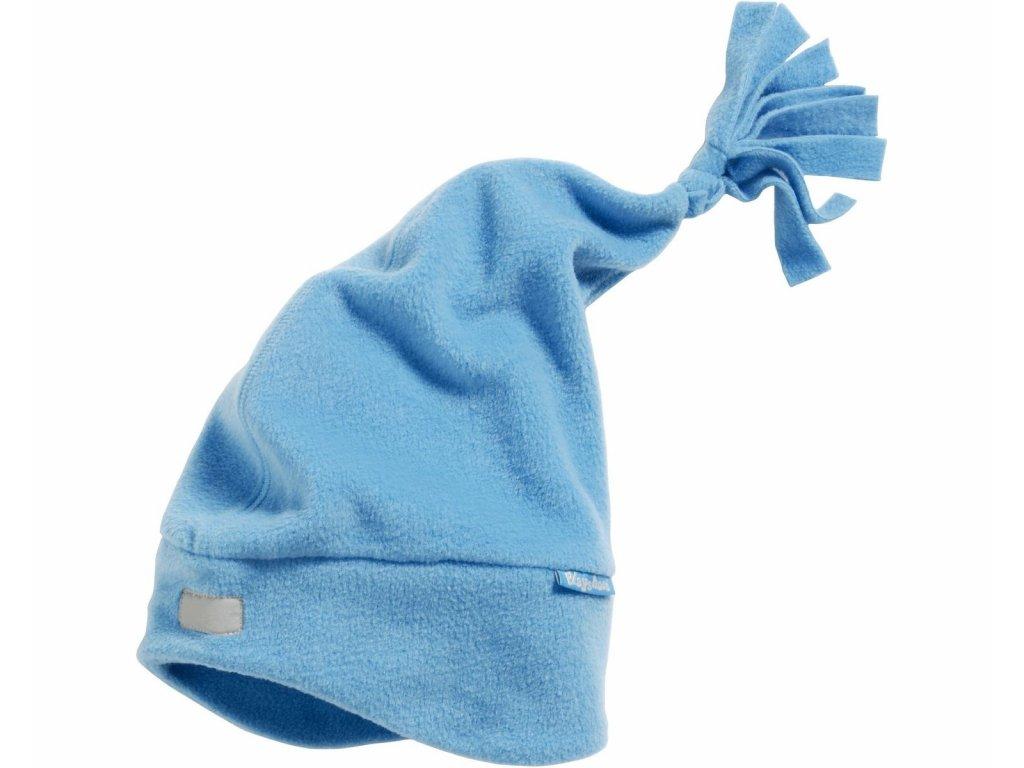 Fleecová čiapka modrá