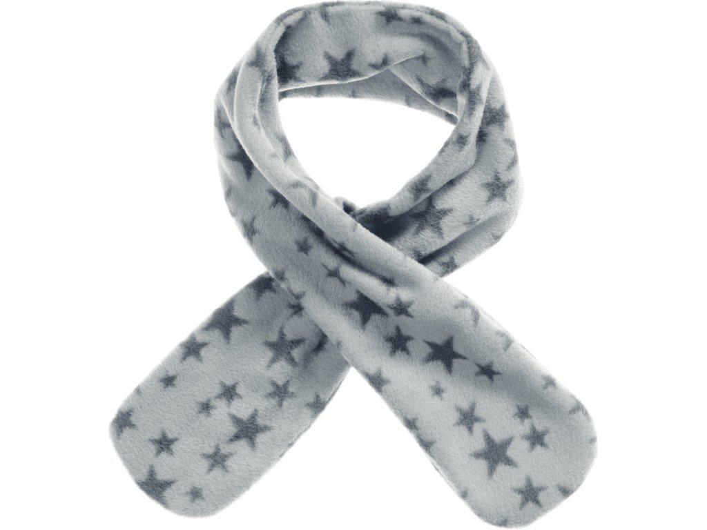 Fleecový prevliekací šál hviezdičkový sivý