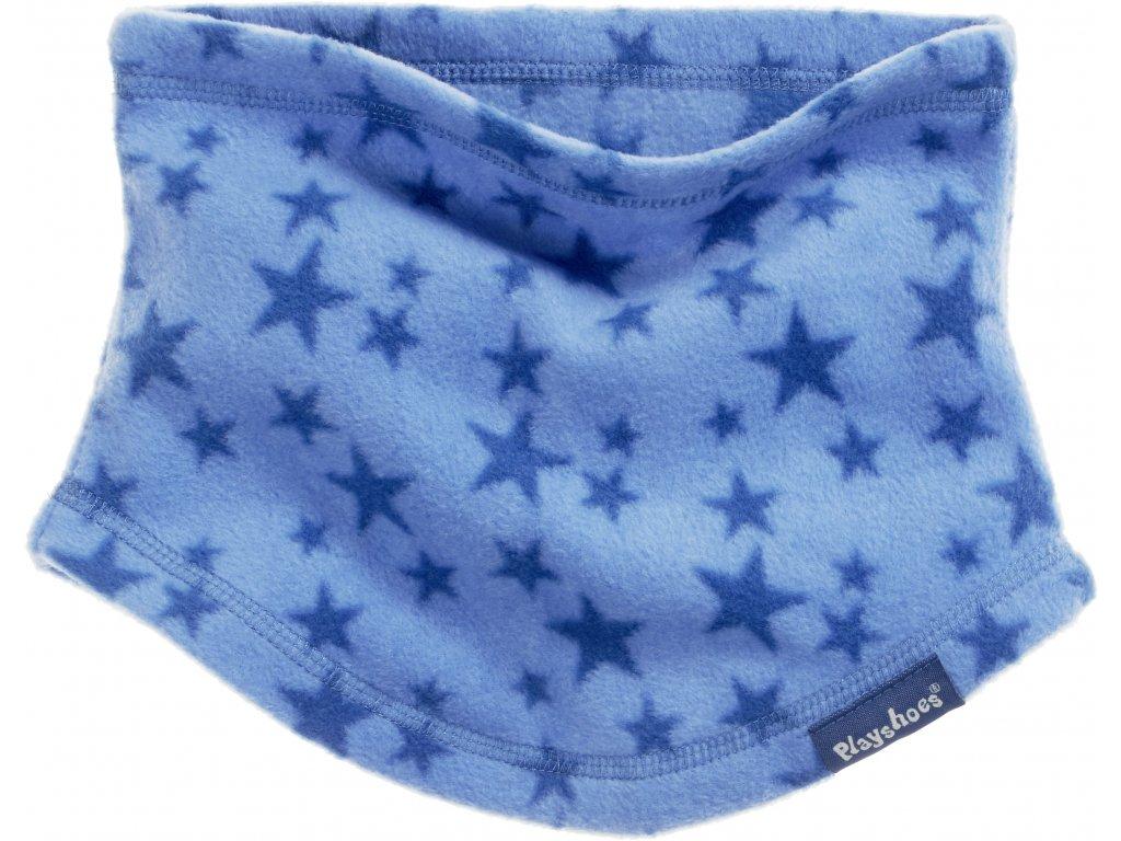 Fleecový nákrčník hviezdičkový modrý