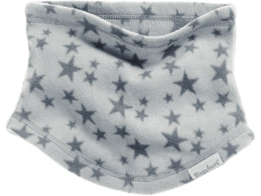 Fleecový nákrčník hviezdičkový sivý