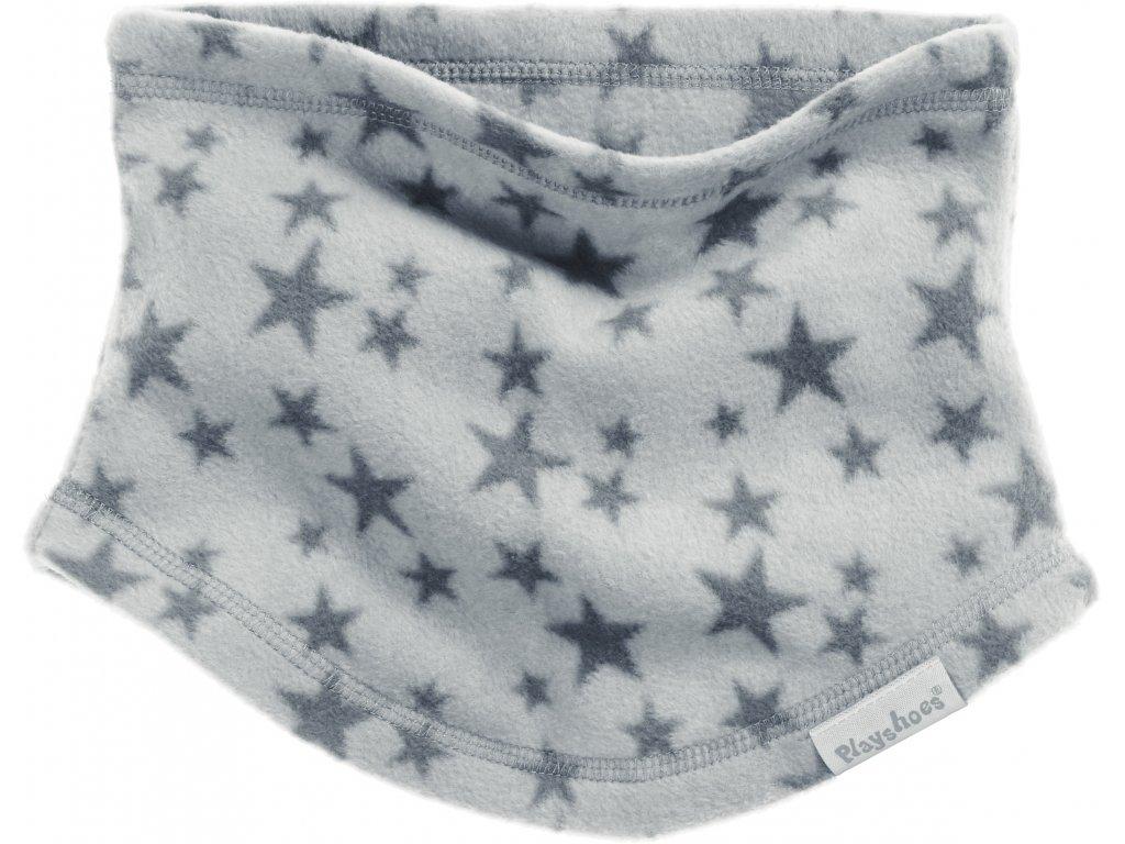 PLAYSHOES Detský nákrčník Hviezdička, farba: šedá