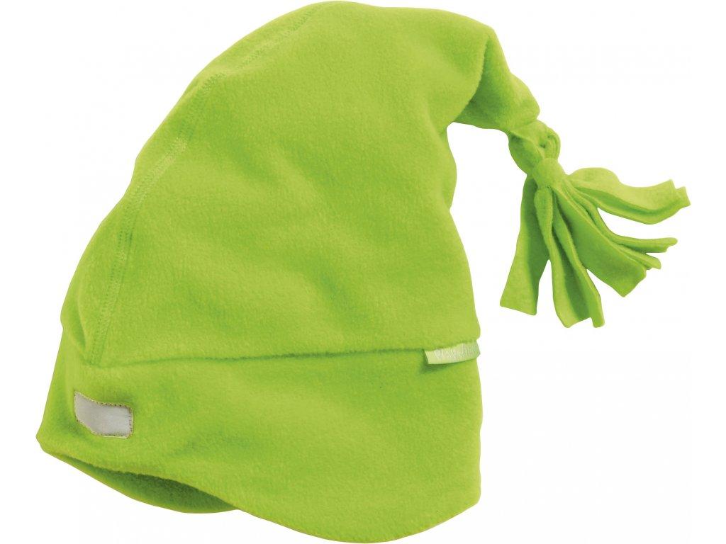Fleecová čiapka svetlozelená